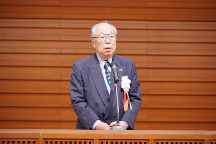 〈開催地老連 かがやきクラブ周南の会長 原田氏のあいさつ〉