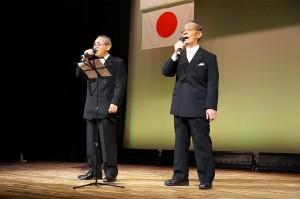 「歌謡吟詠」としてご出演 武田節を男二人で カッコイイ!