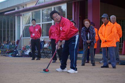 三木市長による始球式