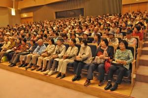 ほぼ満席の客席