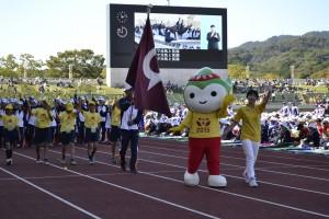 最後は開催地、山口県選手団