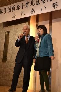田島区長と桜丘校区の江藤会長によるデュエット