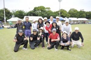 玉入れ優勝チーム三浦地区の皆さん。 今年も他を寄せ付けない圧倒的な強さでした