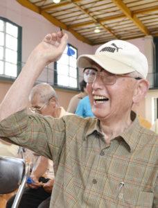 男性最高齢の佐藤さん