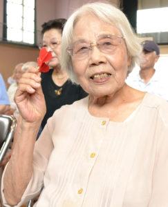 女性最高齢の亀口さん