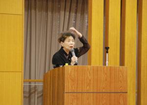神戸市老人クラブ連合会 女性委員長の頼廣さん