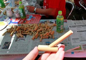 手製の竹笛