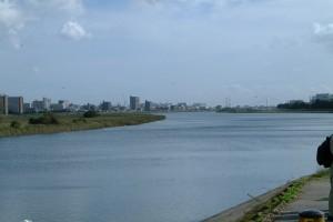 対岸は大田区。羽田空港が望めます
